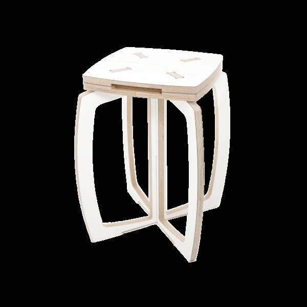 Valkoinen OPILION design jakkara
